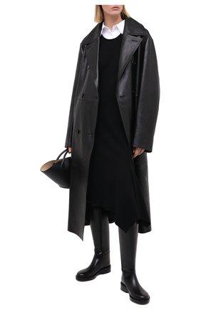 Женское платье из вискозы и шерсти ANN DEMEULEMEESTER черного цвета, арт. 2002-2204-P-181-099 | Фото 2