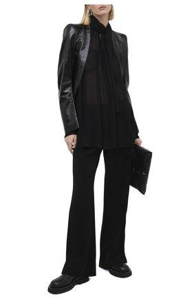 Женские брюки ANN DEMEULEMEESTER черного цвета, арт. 2002-2418-P-222-099 | Фото 2