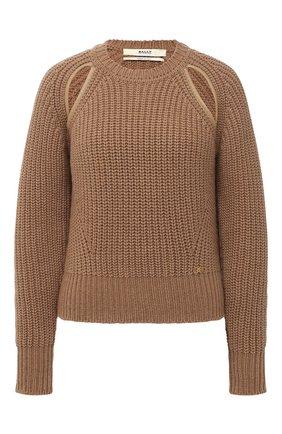 Женский шерстяной свитер BALLY бежевого цвета, арт. L5LR468K-8J453/97 | Фото 1
