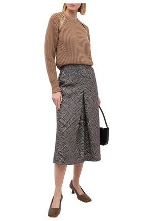 Женский шерстяной свитер BALLY бежевого цвета, арт. L5LR468K-8J453/97 | Фото 2