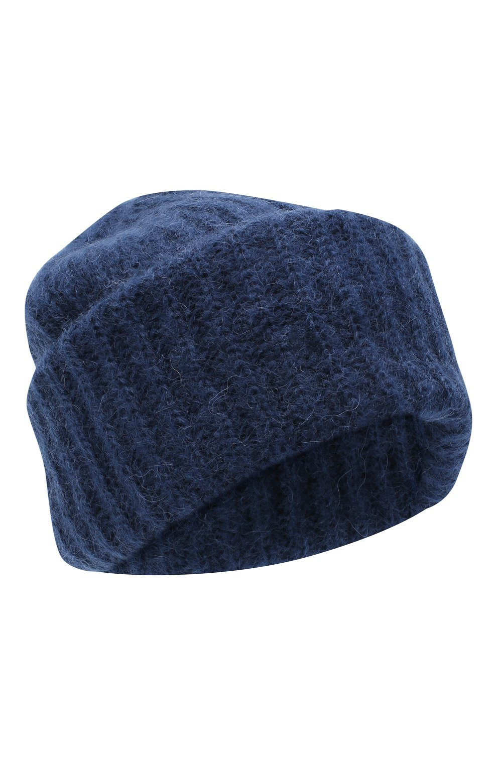Женская шапка TAK.ORI темно-синего цвета, арт. AC043MW018PF17 | Фото 1 (Материал: Текстиль, Шерсть, Синтетический материал)