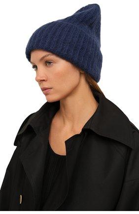 Женская шапка TAK.ORI темно-синего цвета, арт. AC043MW018PF17 | Фото 2