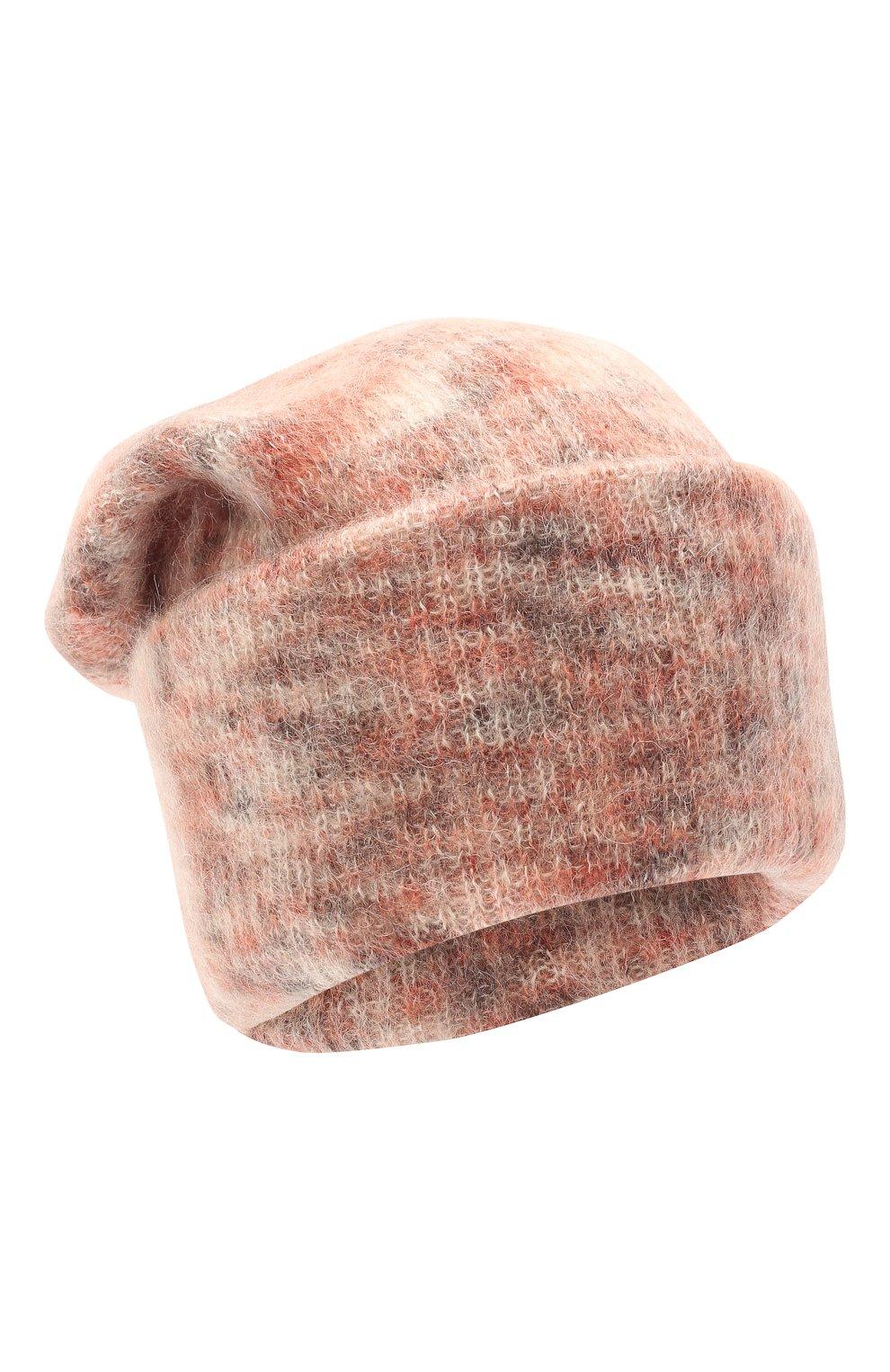 Женская шапка TAK.ORI светло-розового цвета, арт. HTK50027WM050AW19 | Фото 1 (Материал: Текстиль, Шерсть, Синтетический материал)