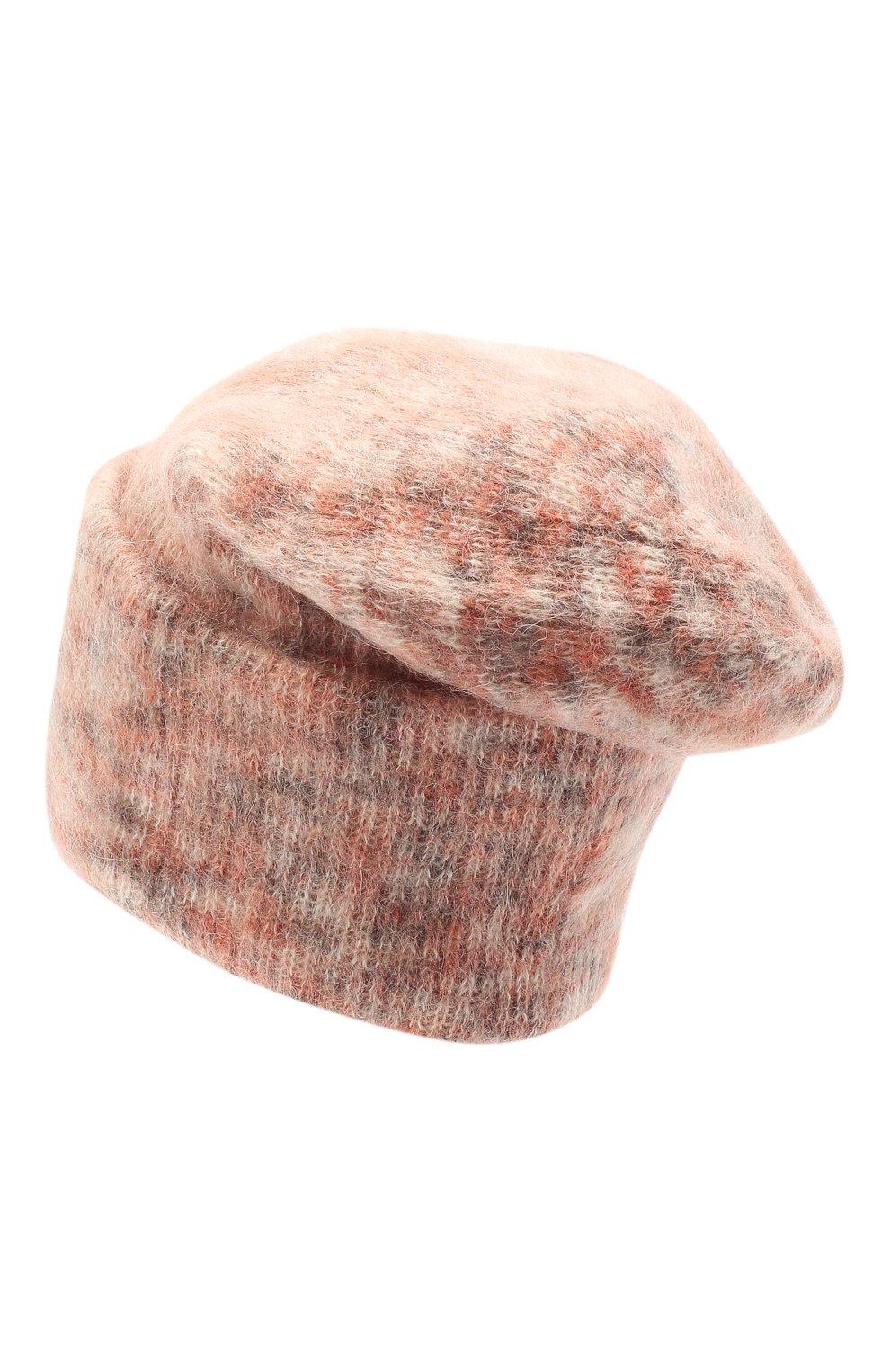 Женская шапка TAK.ORI светло-розового цвета, арт. HTK50027WM050AW19 | Фото 2 (Материал: Текстиль, Шерсть, Синтетический материал)