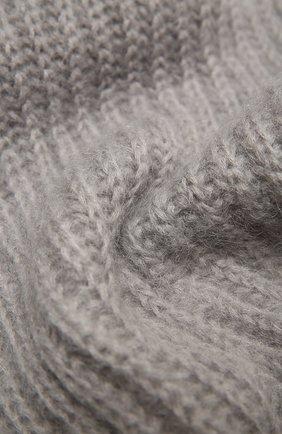 Женский шерстяной шарф TAK.ORI серого цвета, арт. AC105MW018PF17 | Фото 2 (Материал: Текстиль, Шерсть, Синтетический материал; Принт: Без принта)