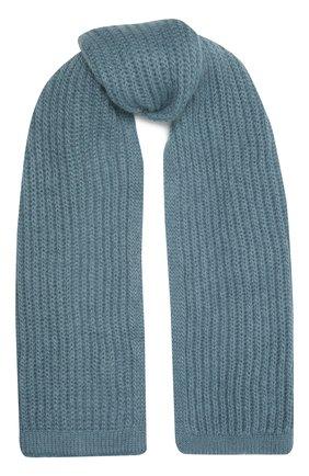 Женский шерстяной шарф TAK.ORI голубого цвета, арт. AC105MW018PF17 | Фото 1