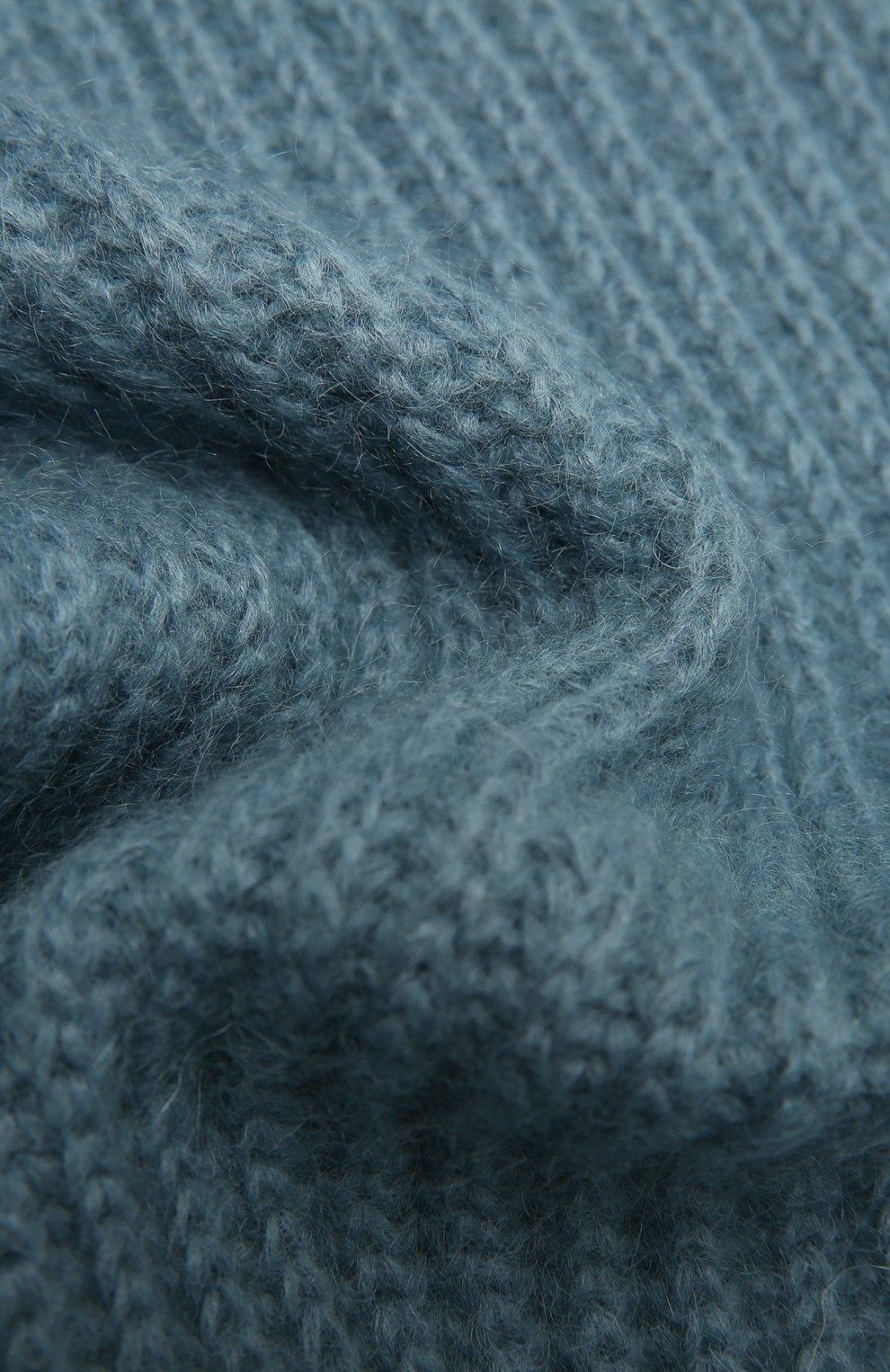 Женский шерстяной шарф TAK.ORI голубого цвета, арт. AC105MW018PF17 | Фото 2 (Материал: Текстиль, Шерсть, Синтетический материал; Принт: Без принта)