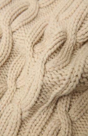 Женский шарф из кашемира и шерсти TAK.ORI бежевого цвета, арт. ACK75068WS050AW20 | Фото 2 (Материал: Кашемир, Шерсть; Принт: Без принта)