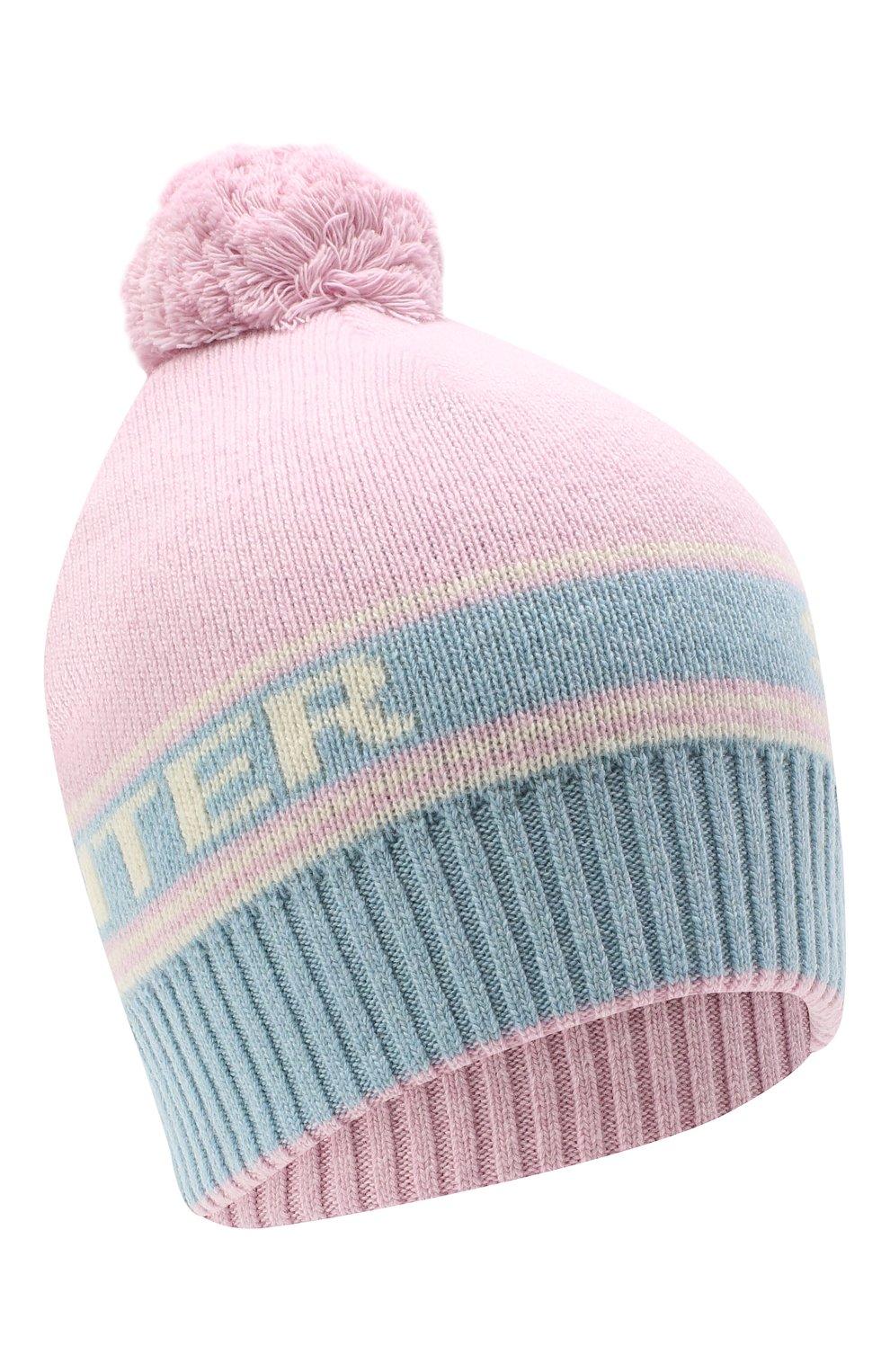 Женская шапка из шерсти и кашемира TAK.ORI розового цвета, арт. HTK72062WC030AW20 | Фото 1 (Материал: Кашемир, Шерсть)