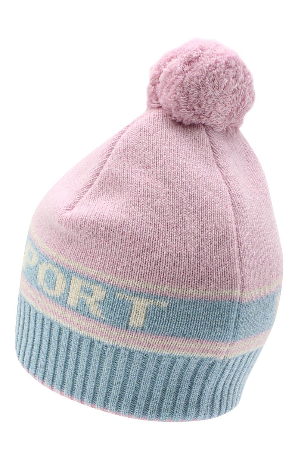 Женская шапка из шерсти и кашемира TAK.ORI розового цвета, арт. HTK72062WC030AW20 | Фото 2 (Материал: Кашемир, Шерсть)