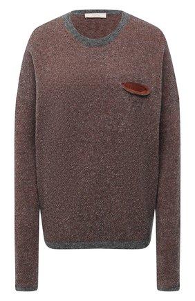Женский шерстяной свитер TAK.ORI разноцветного цвета, арт. SWK74027WV083AW20 | Фото 1 (Рукава: Длинные; Материал внешний: Шерсть; Длина (для топов): Стандартные; Женское Кросс-КТ: Свитер-одежда)