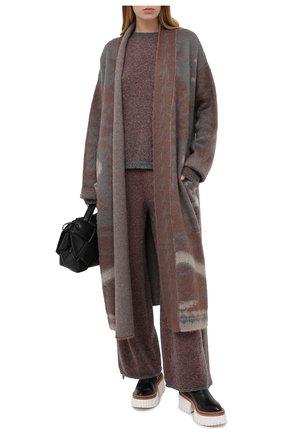 Женский шерстяной свитер TAK.ORI разноцветного цвета, арт. SWK74027WV083AW20 | Фото 2 (Рукава: Длинные; Материал внешний: Шерсть; Длина (для топов): Стандартные; Женское Кросс-КТ: Свитер-одежда)