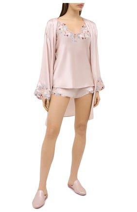Женская шелковый топ LA PERLA светло-розового цвета, арт. 0019225/W240 | Фото 2