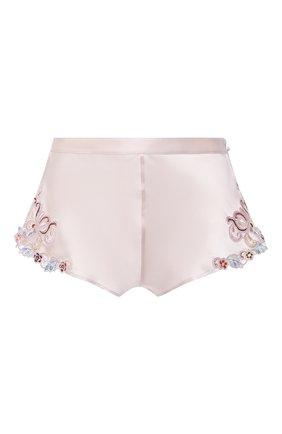 Женские шелковые шорты LA PERLA светло-розового цвета, арт. 0019228/W240 | Фото 1