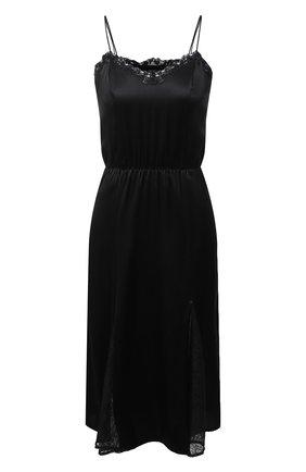 Женская шелковая сорочка LA PERLA черного цвета, арт. 0040550 | Фото 1