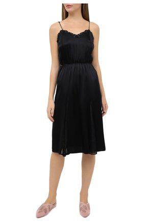 Женская шелковая сорочка LA PERLA черного цвета, арт. 0040550 | Фото 2