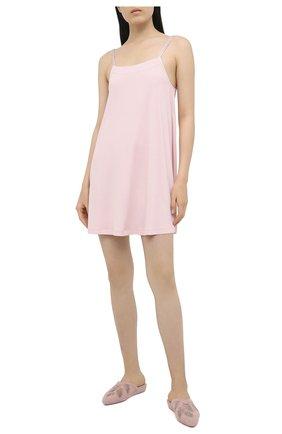 Женская платье из вискозы LA PERLA светло-розового цвета, арт. 0052790   Фото 2