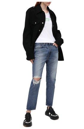 Женская хлопковая футболка HELMUT LANG белого цвета, арт. K06DW508 | Фото 2