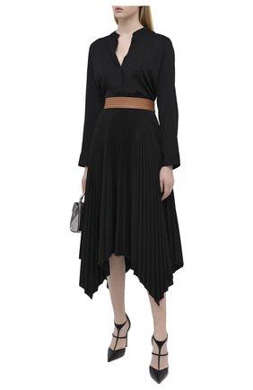 Женская шелковая блузка VINCE черного цвета, арт. V674312338 | Фото 2