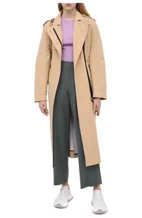 Женские брюки VINCE зеленого цвета, арт. V676021832 | Фото 2