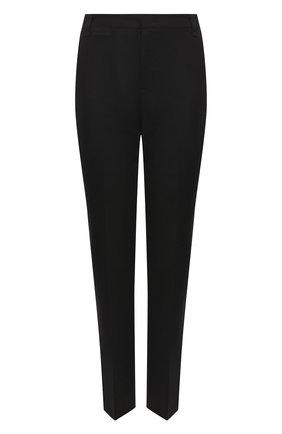 Женские брюки из хлопка и вискозы VINCE черного цвета, арт. V676321842 | Фото 1