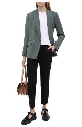Женские брюки из хлопка и вискозы VINCE черного цвета, арт. V676321842 | Фото 2