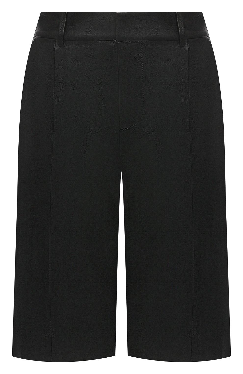 Женские кожаные шорты VINCE черного цвета, арт. V682121808   Фото 1