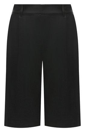 Женские кожаные шорты VINCE черного цвета, арт. V682121808 | Фото 1