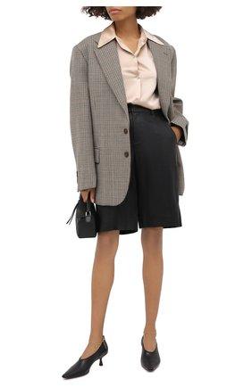 Женские кожаные шорты VINCE черного цвета, арт. V682121808 | Фото 2