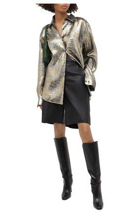 Женские кожаные шорты VINCE черного цвета, арт. V682121808   Фото 3