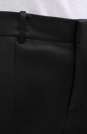 Женские кожаные шорты VINCE черного цвета, арт. V682121808   Фото 6