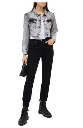 Женские джинсы FRAME DENIM черного цвета, арт. L0JSKT252 | Фото 2