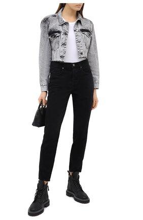 Женская джинсовая куртка FRAME DENIM серого цвета, арт. UCJK252 | Фото 2
