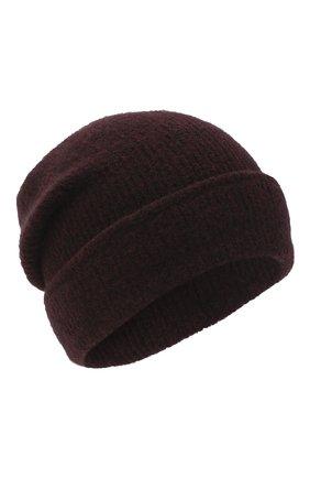 Женский шерстяная шапка ISABEL BENENATO бордового цвета, арт. DK41F20 | Фото 1