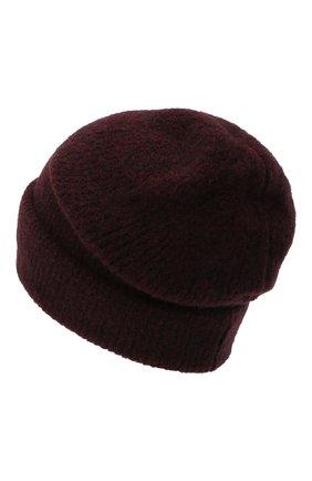 Женский шерстяная шапка ISABEL BENENATO бордового цвета, арт. DK41F20 | Фото 2