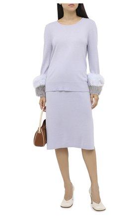 Женский пуловер из шерсти и кашемира MAX&MOI голубого цвета, арт. H20PARY | Фото 2