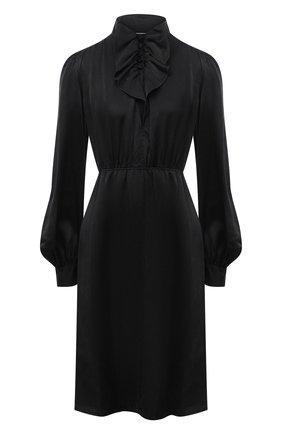 Женское шелковое платье FORTE_FORTE черного цвета, арт. 7557 | Фото 1