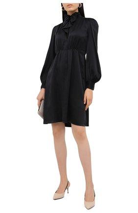 Женское шелковое платье FORTE_FORTE черного цвета, арт. 7557 | Фото 2