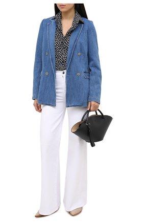 Женский джинсовый жакет FORTE_FORTE синего цвета, арт. 7531 | Фото 2