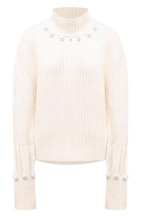 Женский свитер из шерсти и кашемира JW ANDERSON белого цвета, арт. KW0396 YN0006 | Фото 1