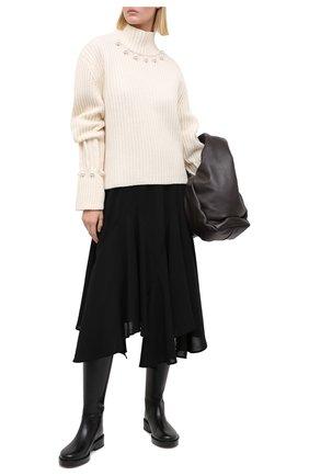 Женский свитер из шерсти и кашемира JW ANDERSON белого цвета, арт. KW0396 YN0006 | Фото 2
