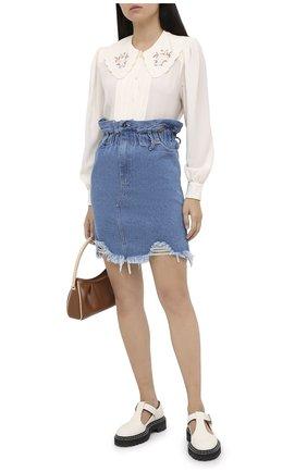 Женская джинсовая юбка RUBAN голубого цвета, арт. RSO20-5.1.410.7. | Фото 2