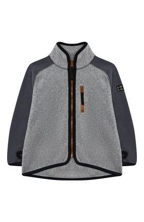 Детского куртка ulrick MOLO серого цвета, арт. 5W20L208   Фото 1 (Материал внешний: Синтетический материал; Рукава: Длинные; Ростовка одежда: 3 года   98 см, 4 года   104 см, 5 лет   110 см, 6 лет   116 см, 7 лет   122 см, 8 лет   128 см)