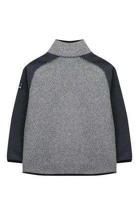 Детского куртка ulrick MOLO серого цвета, арт. 5W20L208   Фото 2 (Материал внешний: Синтетический материал; Рукава: Длинные; Ростовка одежда: 3 года   98 см, 4 года   104 см, 5 лет   110 см, 6 лет   116 см, 7 лет   122 см, 8 лет   128 см)