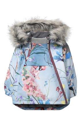 Детская куртка hopla fur MOLO голубого цвета, арт. 5W20M304   Фото 1 (Материал внешний: Синтетический материал; Рукава: Длинные; Ростовка одежда: 2 года   92 см, 3 года   98 см, 4 года   104 см, 5 лет   110 см, 6 лет   116 см, 7 лет   122 см, 8 лет   128 см)