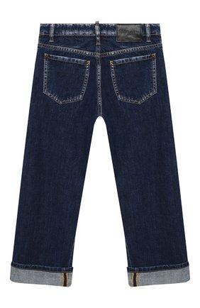 Детские джинсы DSQUARED2 синего цвета, арт. DQ04B1-D001U   Фото 2