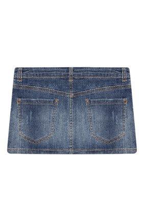 Детская джинсовая юбка DSQUARED2 синего цвета, арт. DQ01W4-D002A   Фото 2
