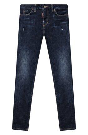 Детские джинсы DSQUARED2 синего цвета, арт. DQ01DX-D001V   Фото 1