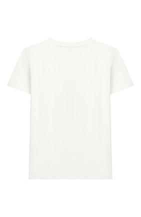 Детская хлопковая футболка GUCCI белого цвета, арт. 547559/XJCP2 | Фото 2