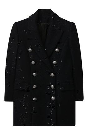 Детское шерстяное пальто BALMAIN синего цвета, арт. 6N2030/NB160/4-10 | Фото 1